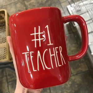 Rae Dunn red #1 teacher mug